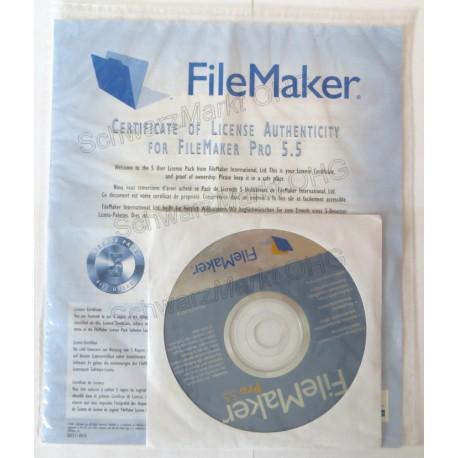 FileMaker Pro 5.5 Vollversion 5er-Lizenzpaket